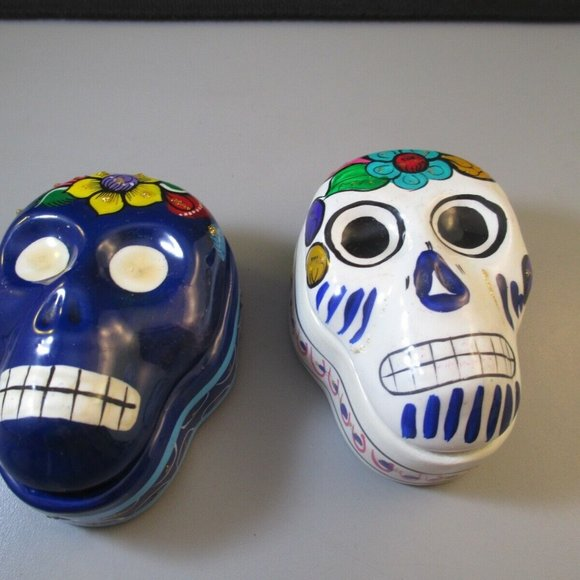Other - Vintage Day of the dead Sugar Skull Ceramic boxes
